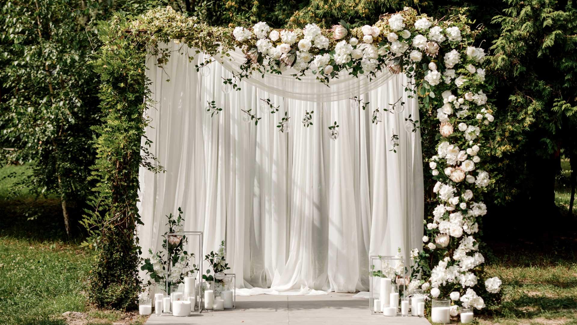 Как акварелью нарисовать свадебную арку сзеленью