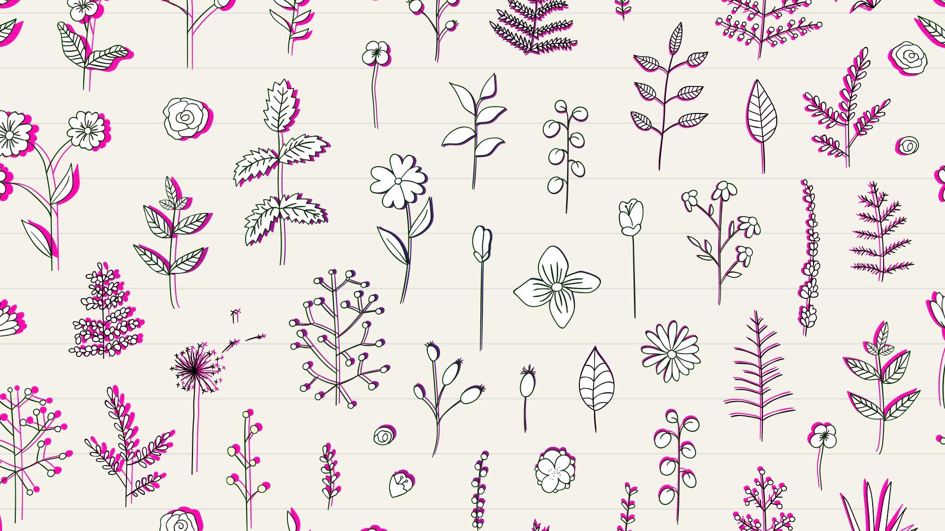 Как быстро рисовать цветы вэскизах декора