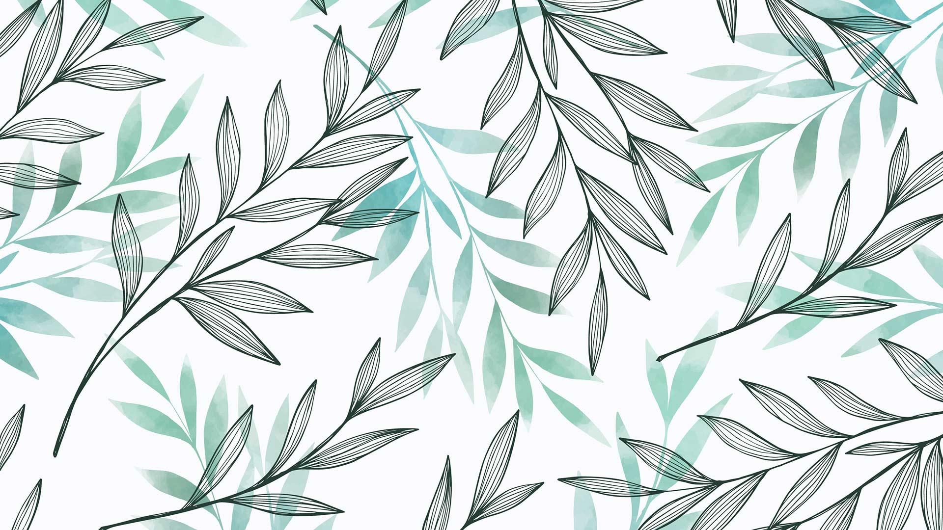 Как рисовать листья вэскизах декора
