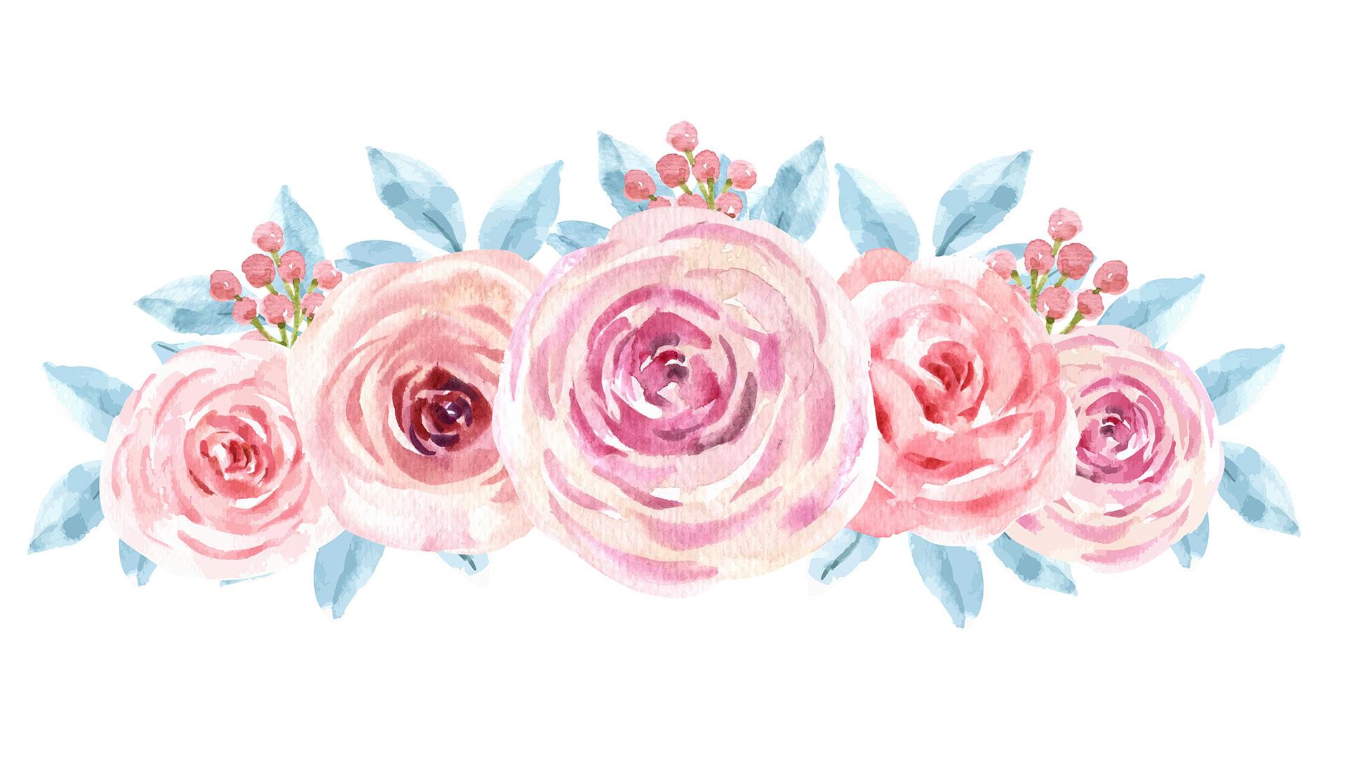 Как рисовать розу акварелью вэскизе декора