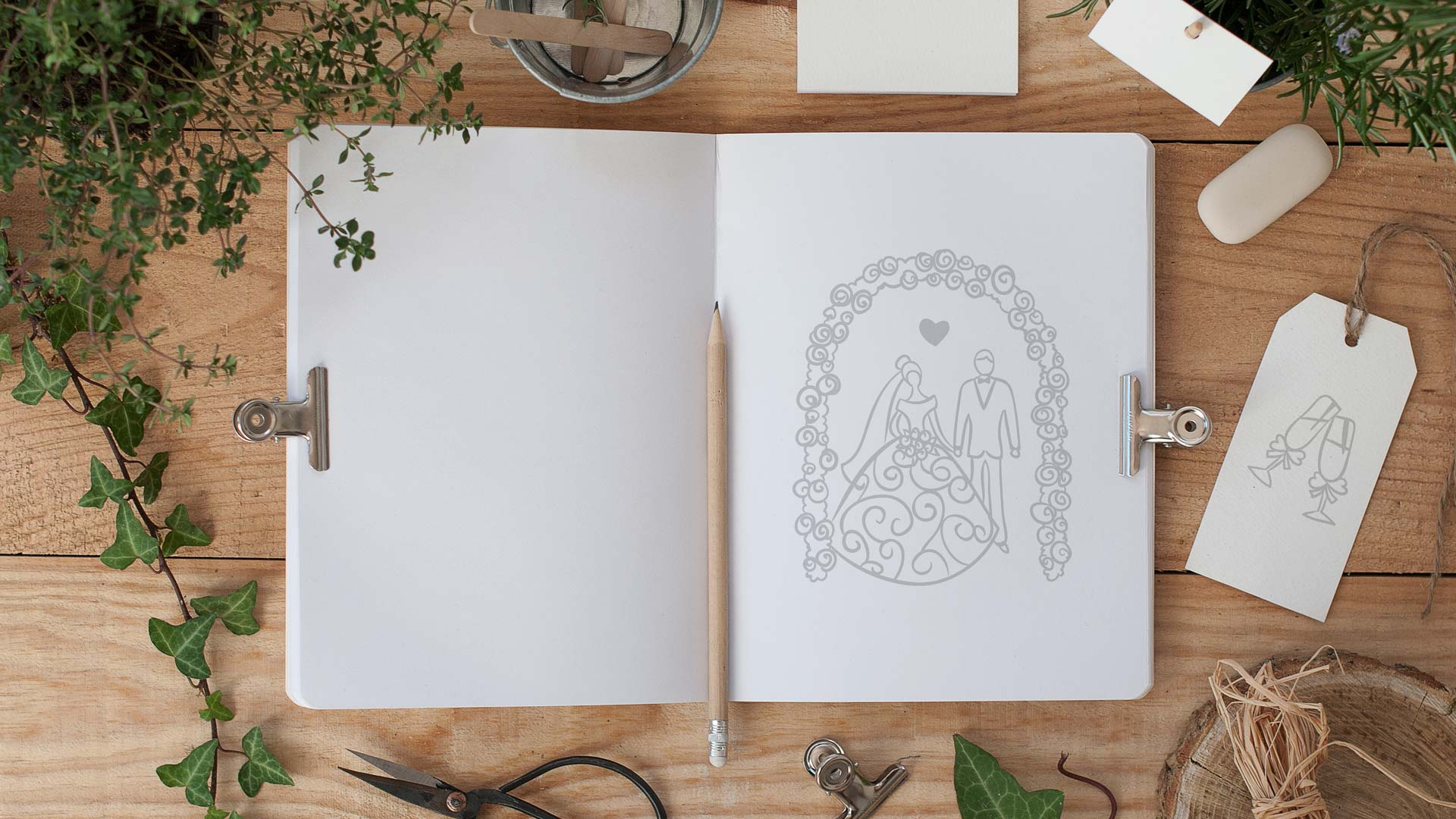 Правильная композиция для эскиза декора внутри формата листа
